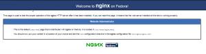 Default Landing Page NGINX