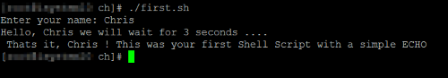 Simple Shell Script