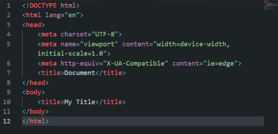 Emmet HTML5