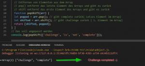 Pop und SHIFT im Code Beispiel